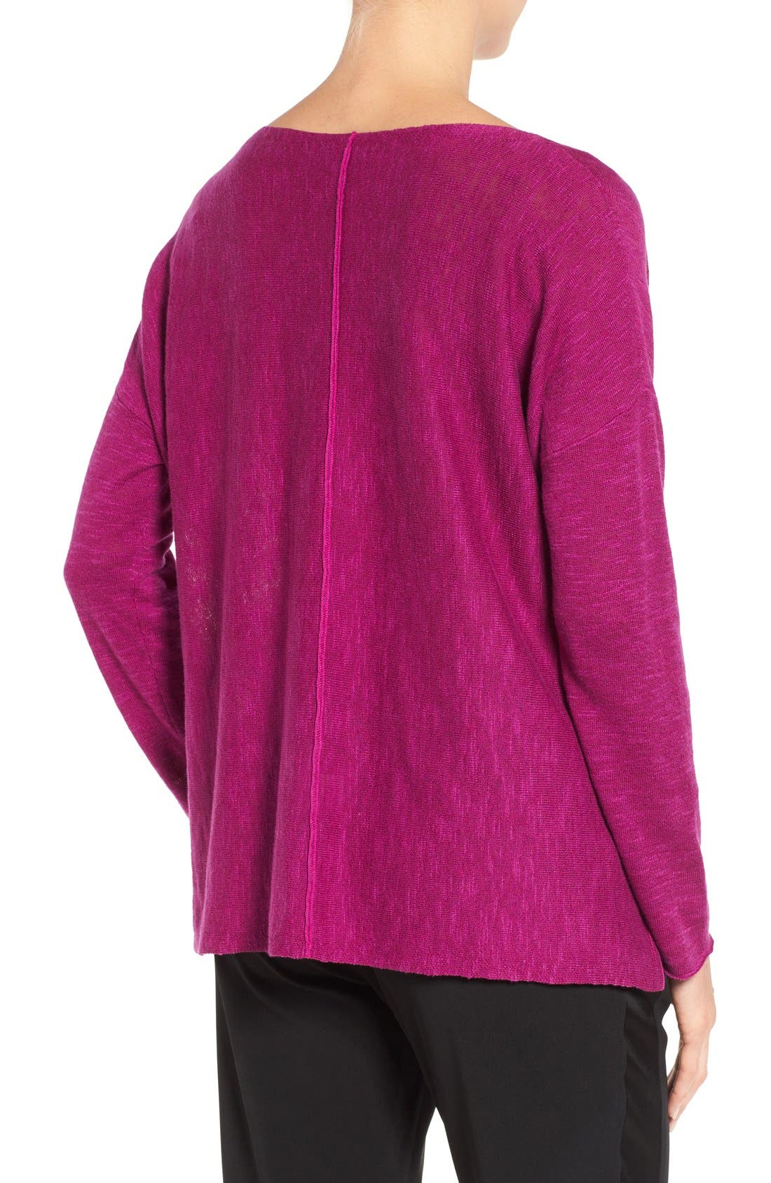Alternate Image 2  - Eileen Fisher Organic Linen & Cotton Top (Regular & Petite)