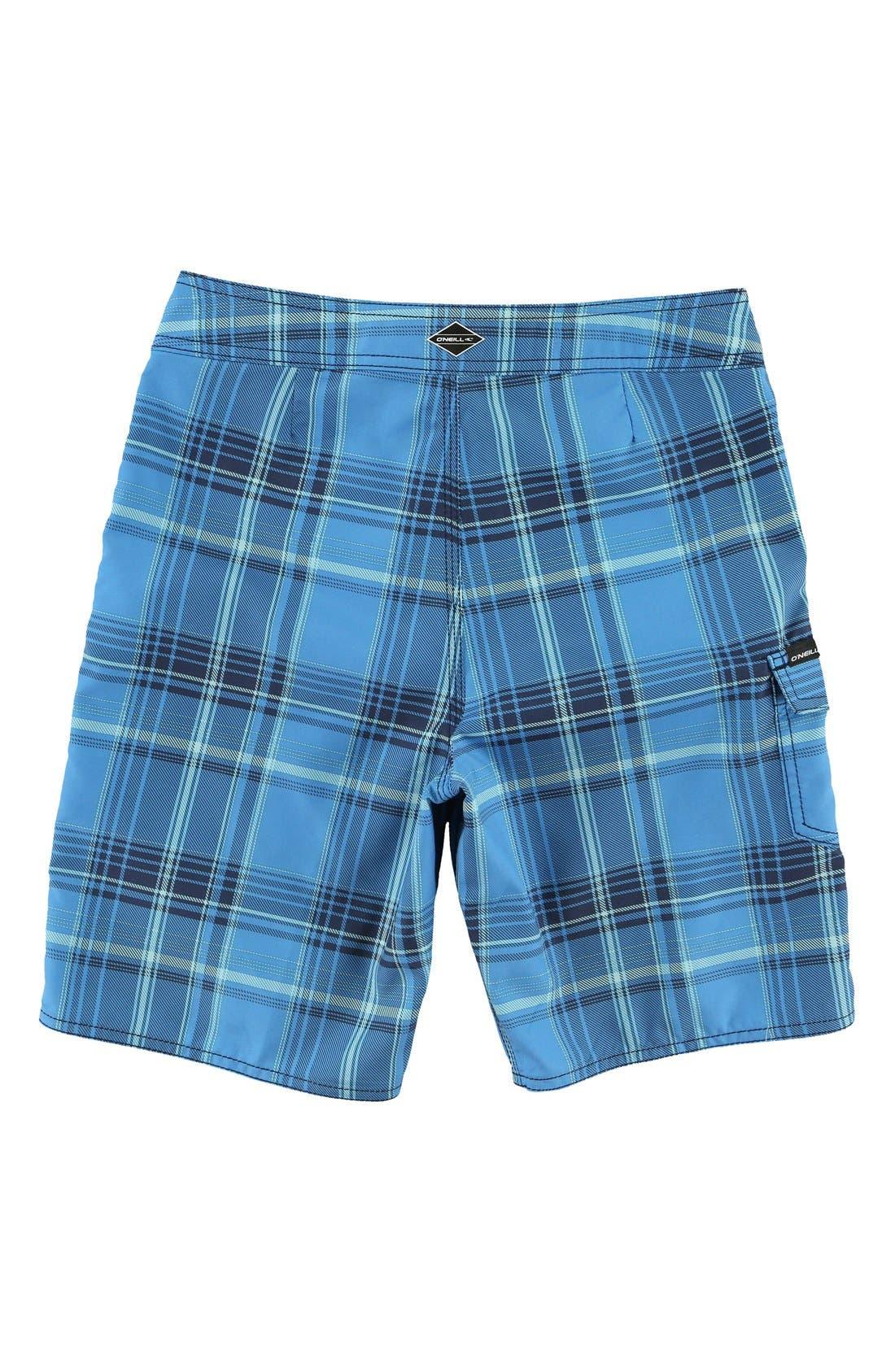 Alternate Image 2  - O'Neill Santa Cruz Plaid Board Shorts (Big Boys)