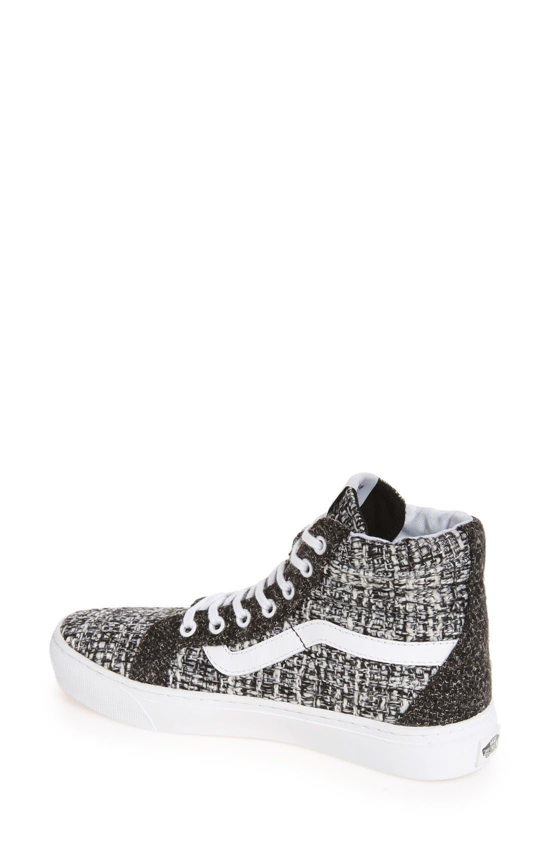 Alternate Image 2  - Vans Sk8-Hi High Top Sneaker (Women)