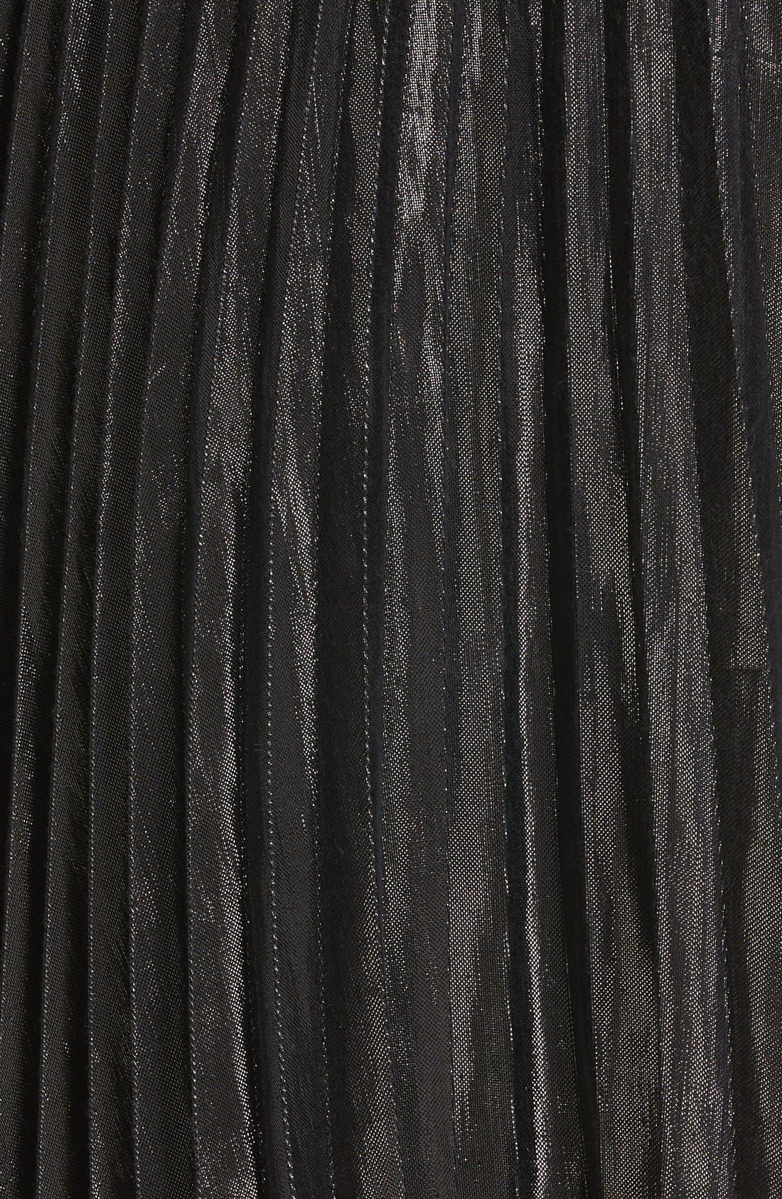 Alternate Image 6  - Diane von Furstenberg Heavyn Metallic Pleated Midi Skirt