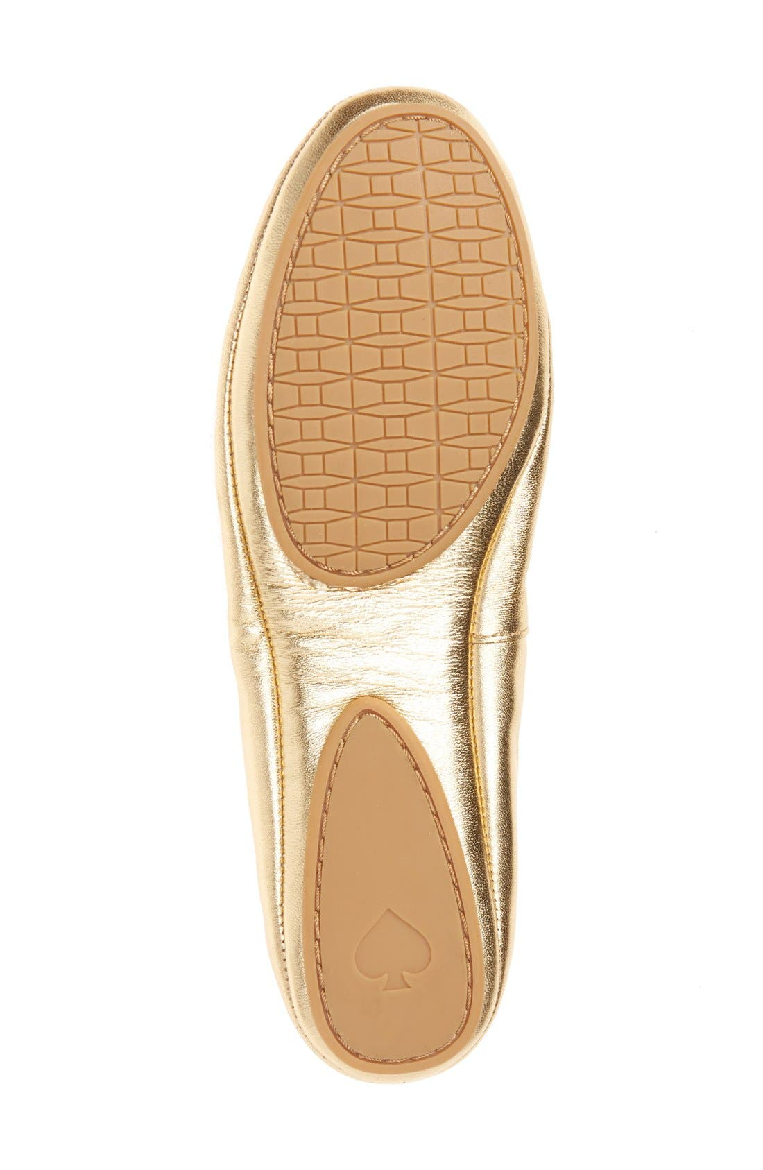 Alternate Image 4  - kate spade new york globe foldable ballet flat (Women)