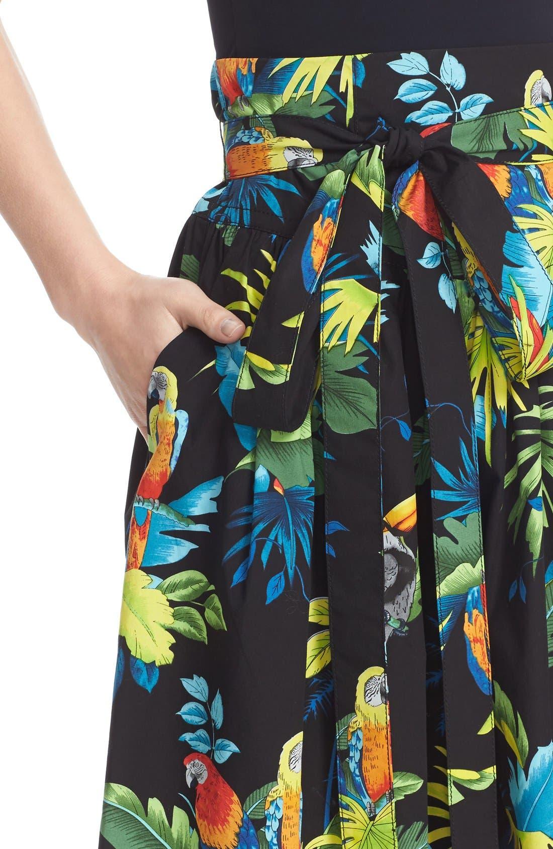 Alternate Image 5  - MARC JACOBS Parrot Print Cotton Poplin Full Skirt