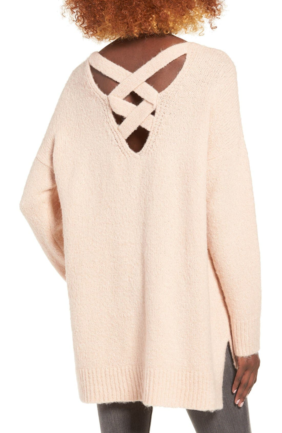 Alternate Image 2  - Dreamers by Debut Cross Back Sweater