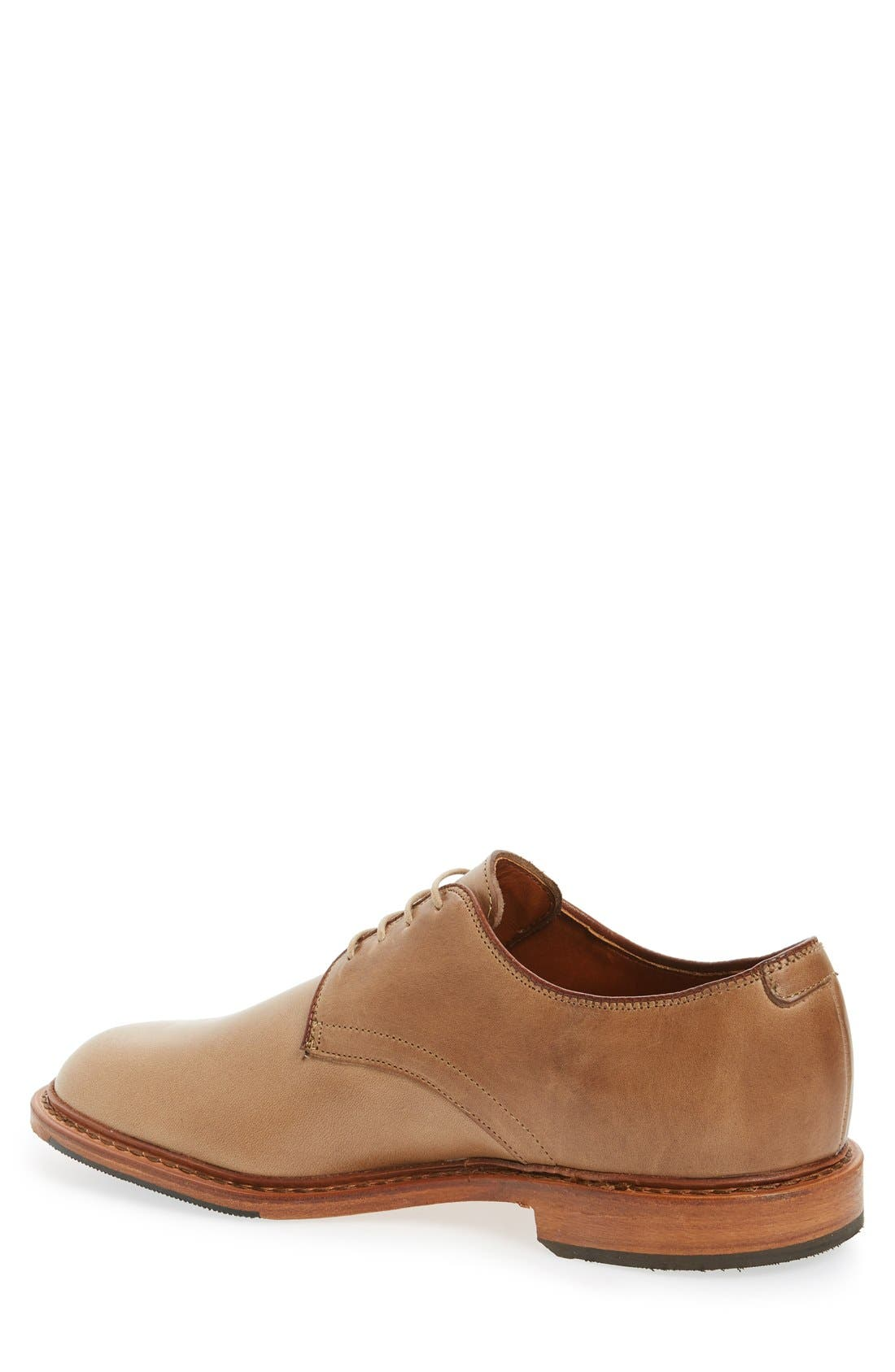 Academy Plain Toe Derby,                             Alternate thumbnail 2, color,                             Natural Leather