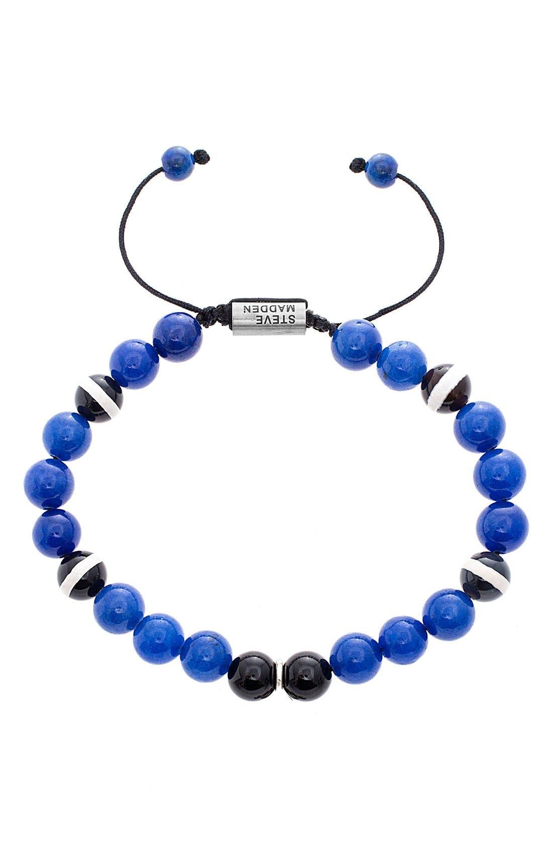 Alternate Image 1 Selected - Steve Madden Glass Bead Bracelet