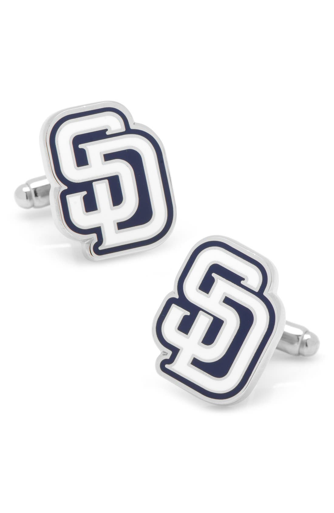 San Diego Padres Cuff Links,                             Main thumbnail 1, color,                             Blue