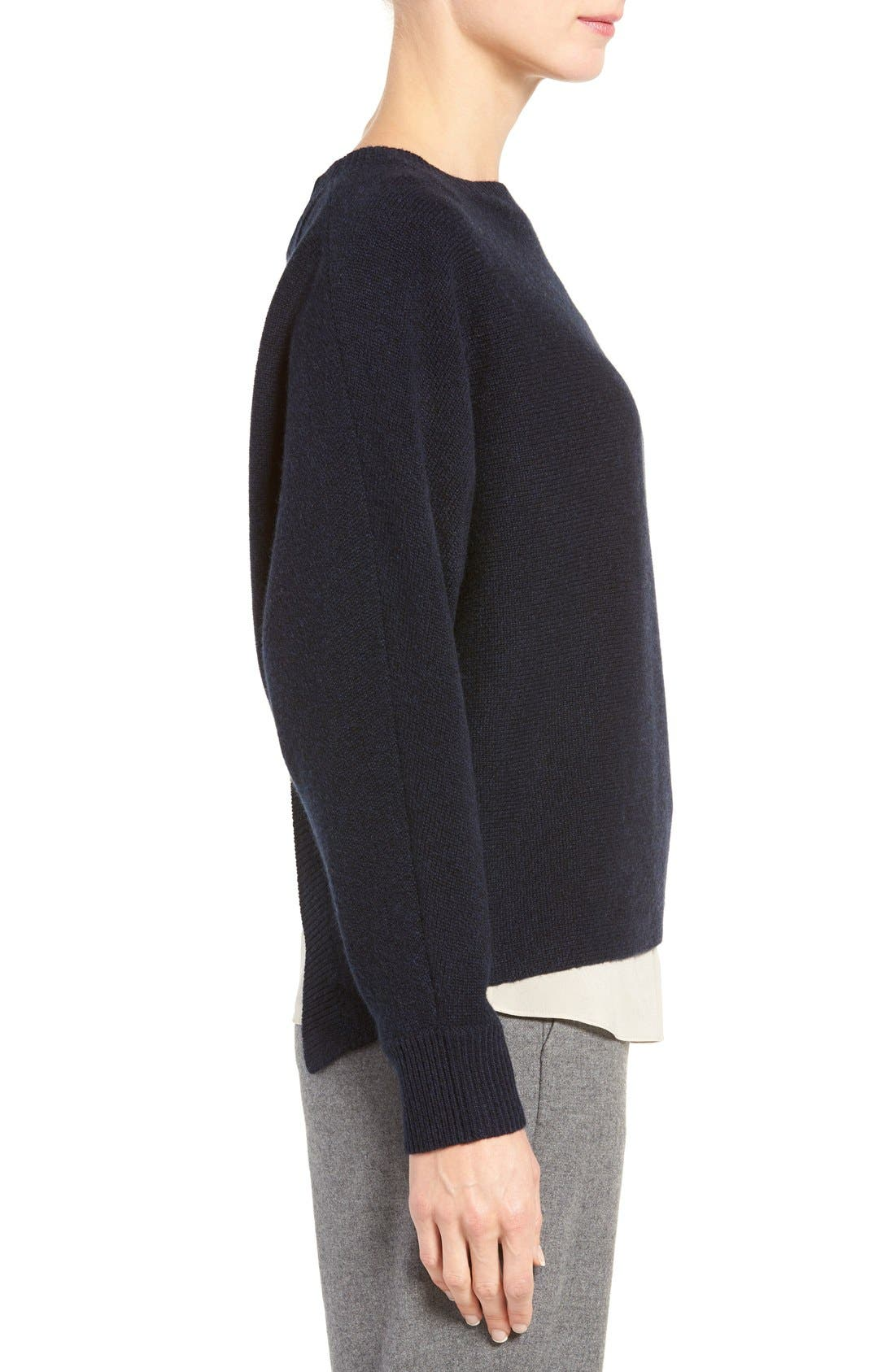 Alternate Image 3  - Nordstrom Collection Cross Back Cashmere Sweater