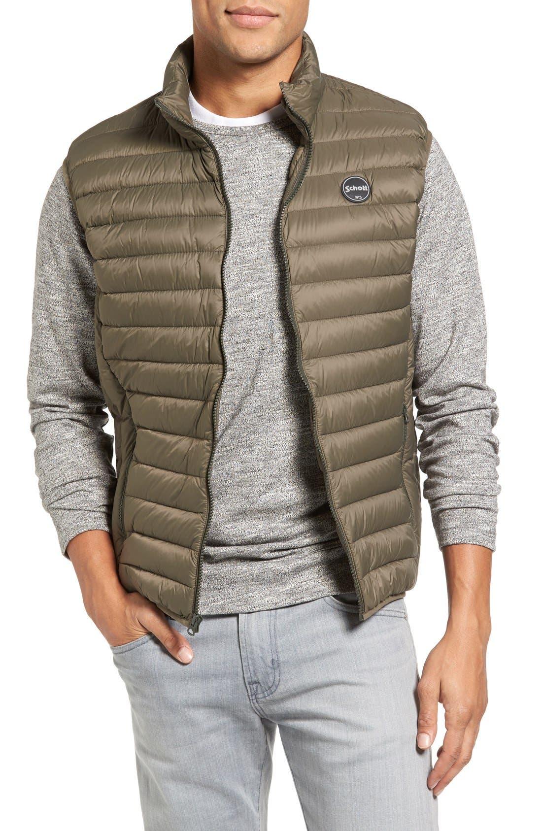 Main Image - Schott NYC Lightweight Quilted Down Vest