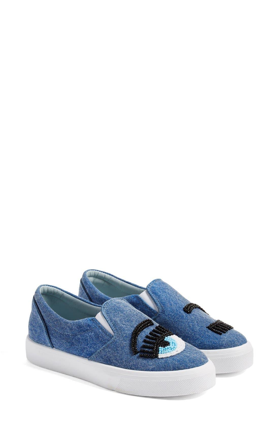 Alternate Image 3  - Chiara Ferragni Flirting Beaded Slip-On Sneaker (Women)