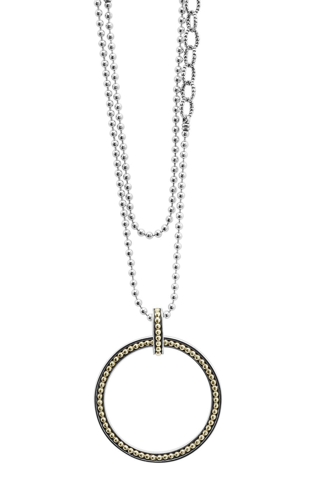 LAGOS Enso Long Pendant Necklace