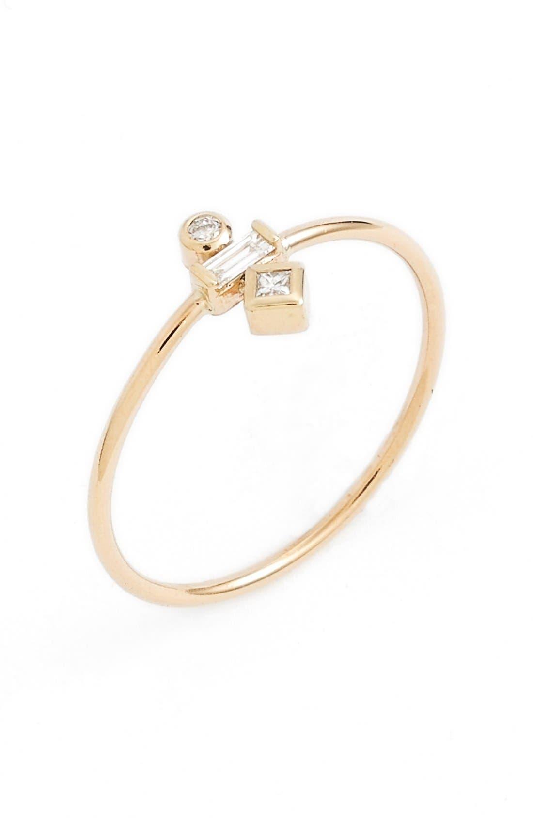 Main Image - Zoë Chicco Mixed Diamond Stack Ring