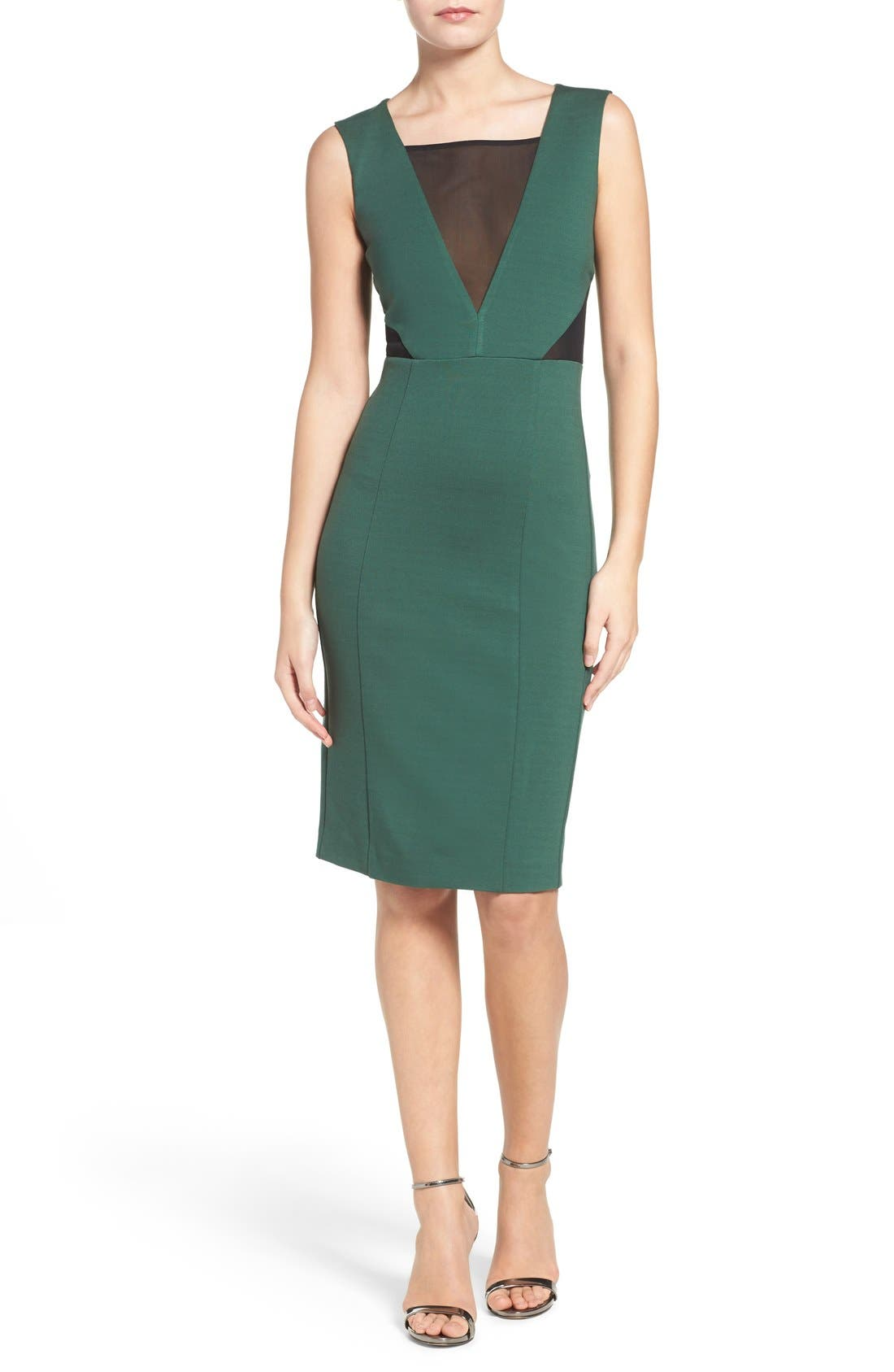 Lulu Body-Con Dress,                             Alternate thumbnail 4, color,                             Pine Forest Green