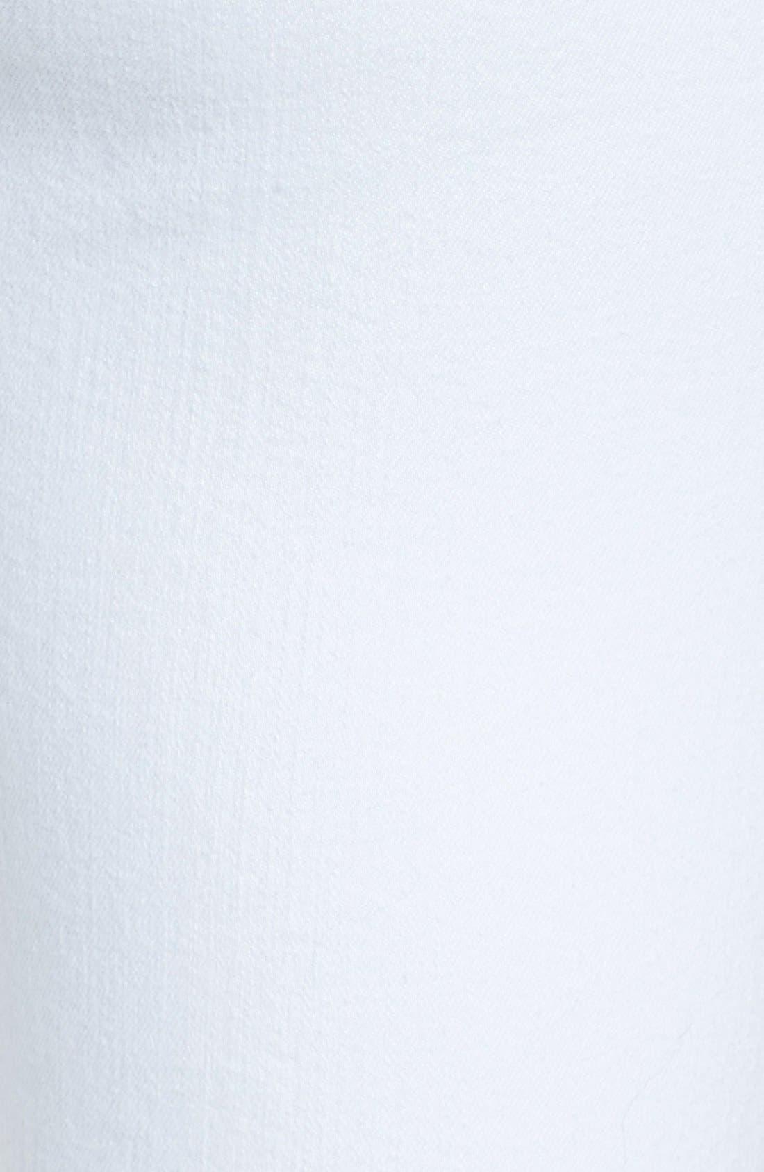 Release Hem Stretch Skinny Ankle Jeans,                             Alternate thumbnail 5, color,                             White Denim
