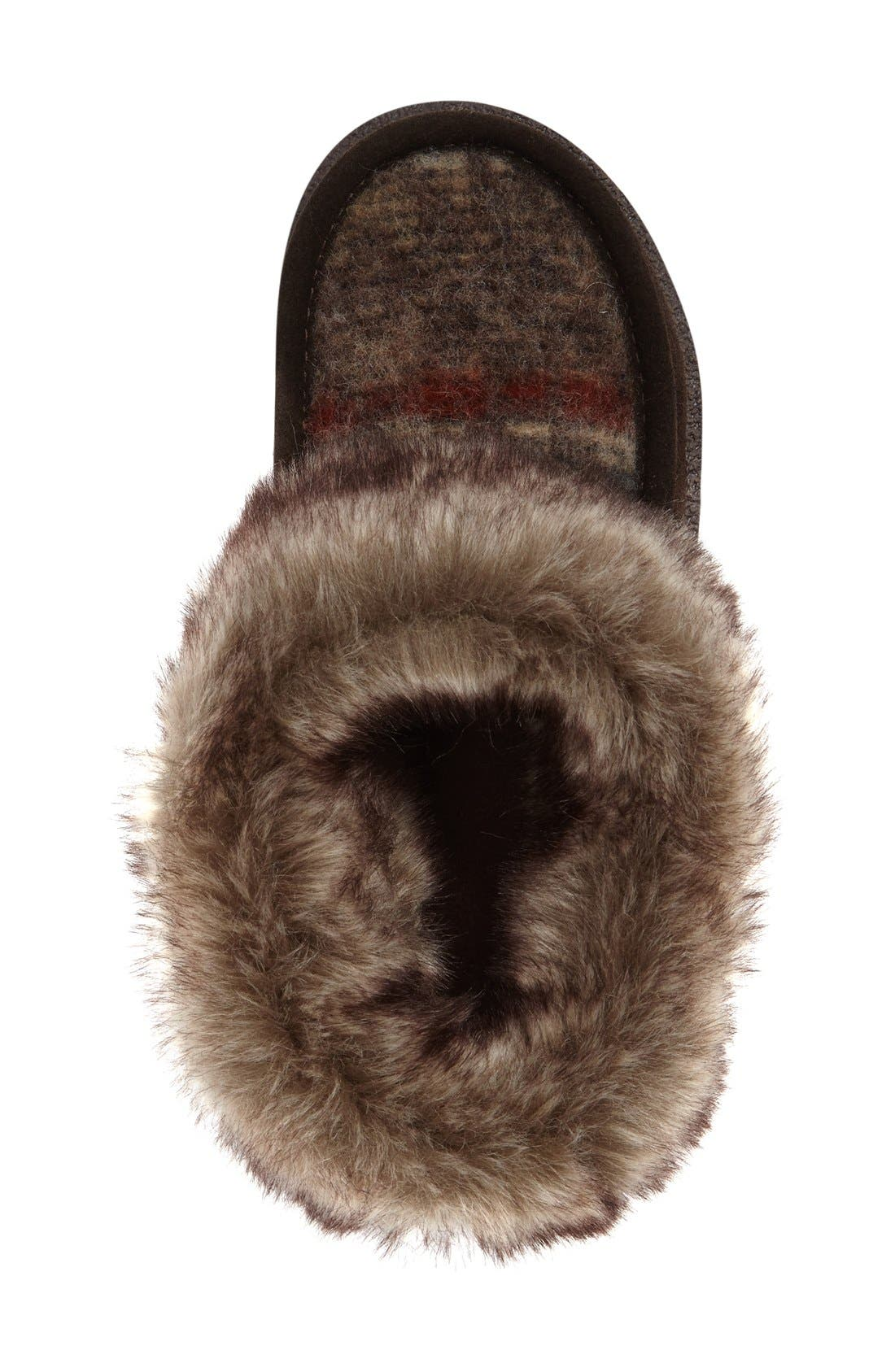 Autumn Ridge Slipper Bootie,                             Alternate thumbnail 3, color,                             Java/ Blanket Wool