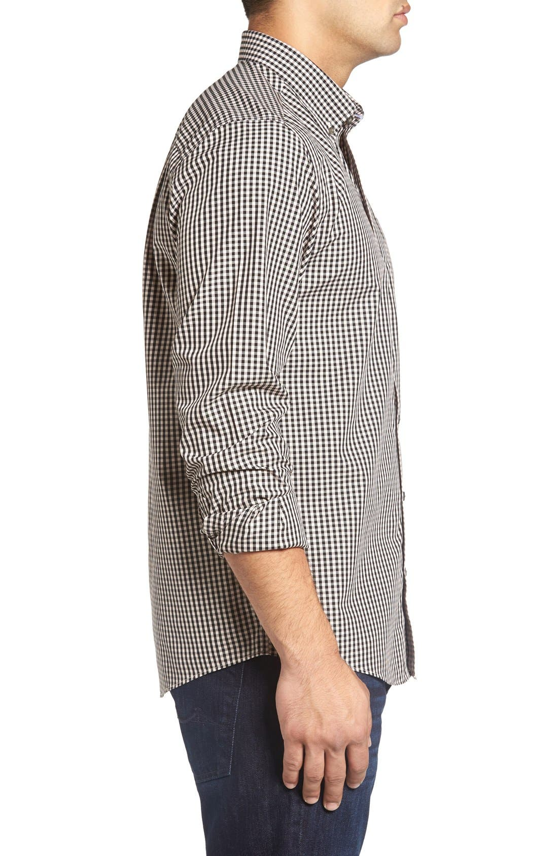 'Willard' Check Sport Shirt,                             Alternate thumbnail 4, color,                             Quaint