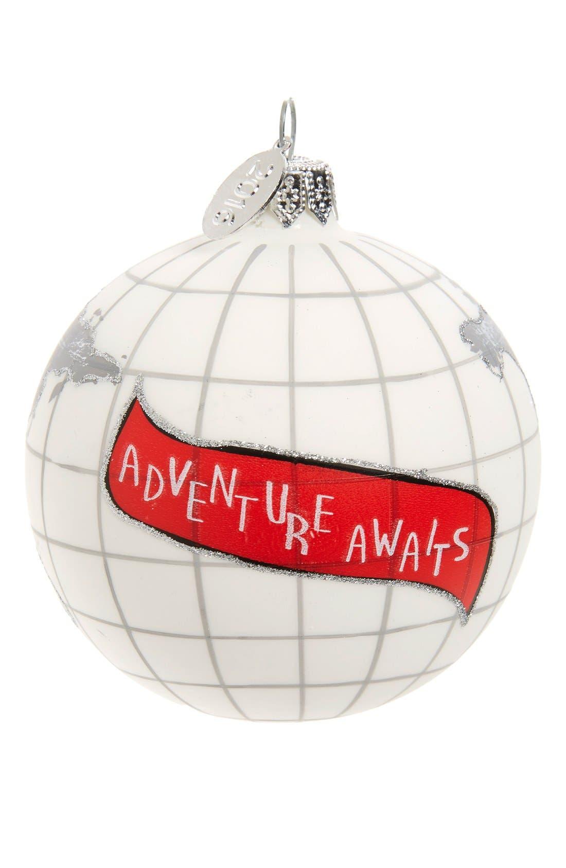 Nordstrom at Home 'Travel' Handblown Glass Ball Ornament