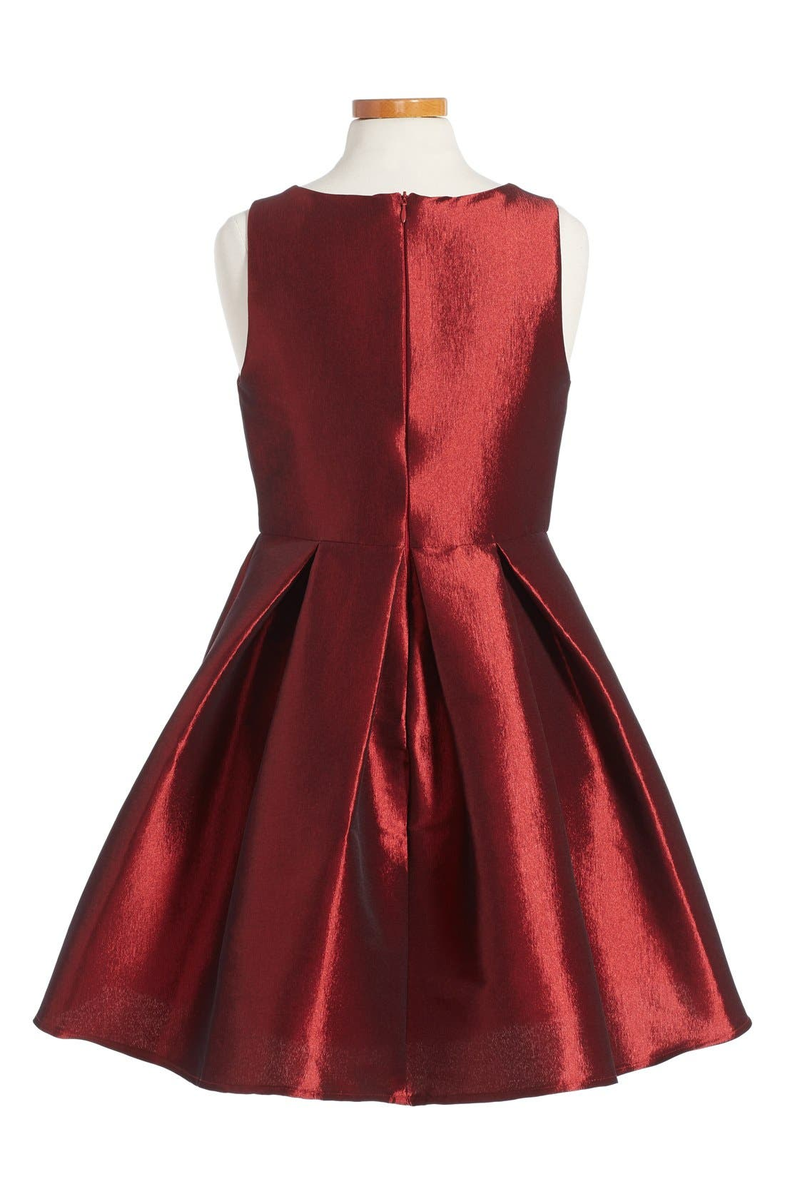 Sleeveless Skater Dress,                             Alternate thumbnail 2, color,                             Rose