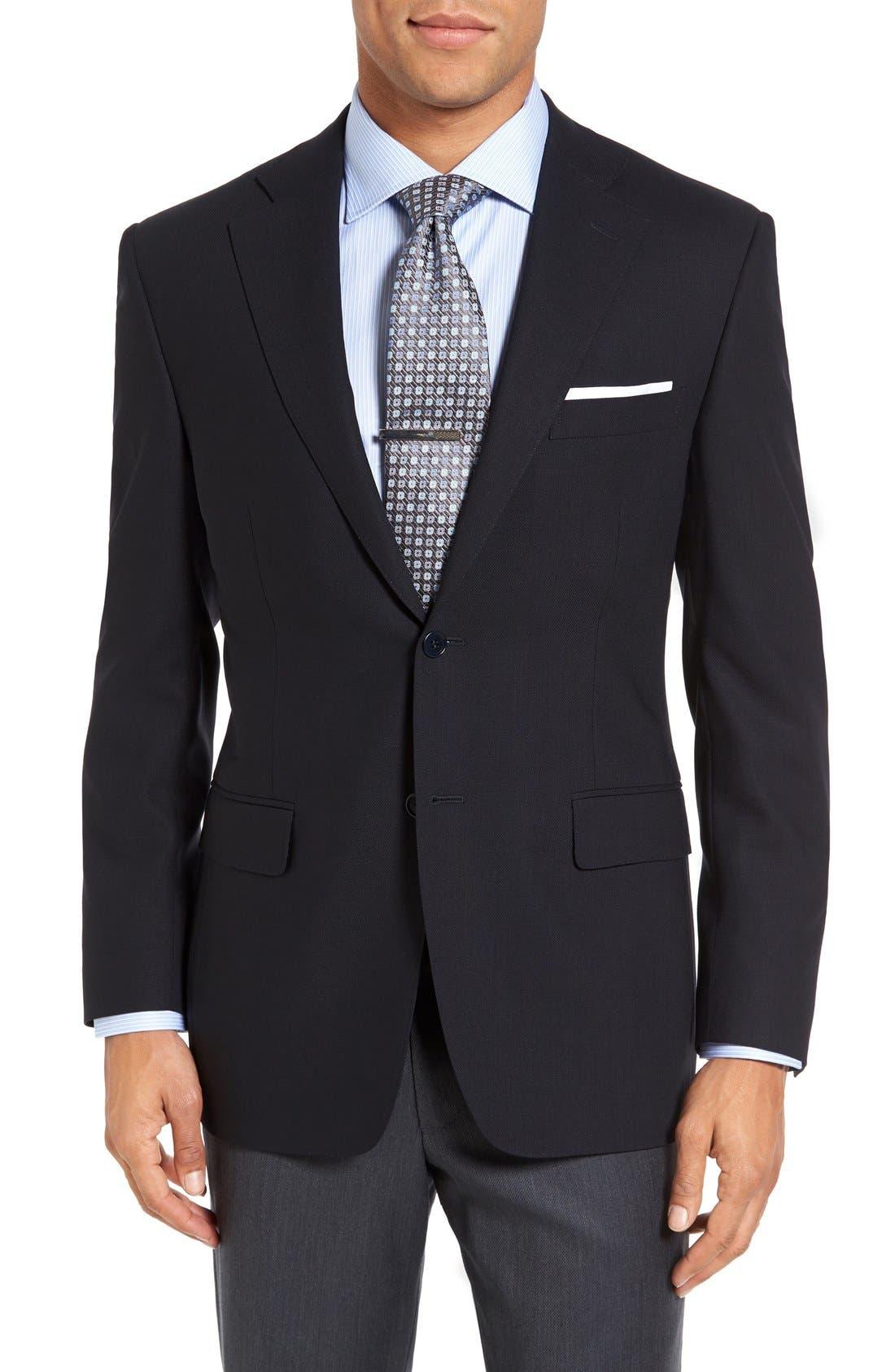 CANALI Classic Fit Solid Wool Blazer