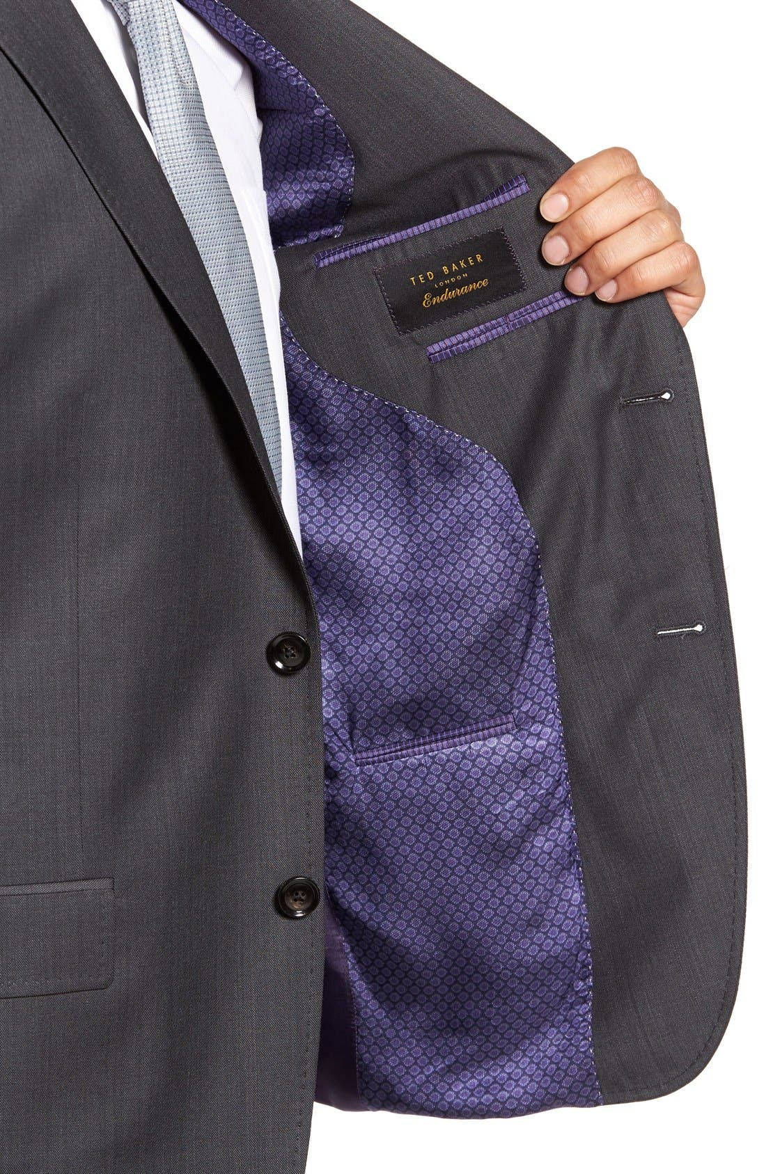 Alternate Image 4  - Ted Baker London 'Jay' Trim Fit Solid Wool Suit