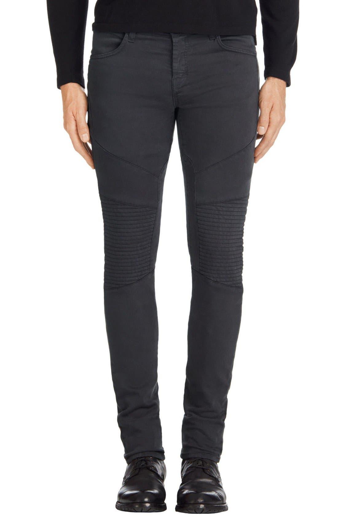 J Brand Bearden Moto Skinny Fit Jeans (Asphalt)