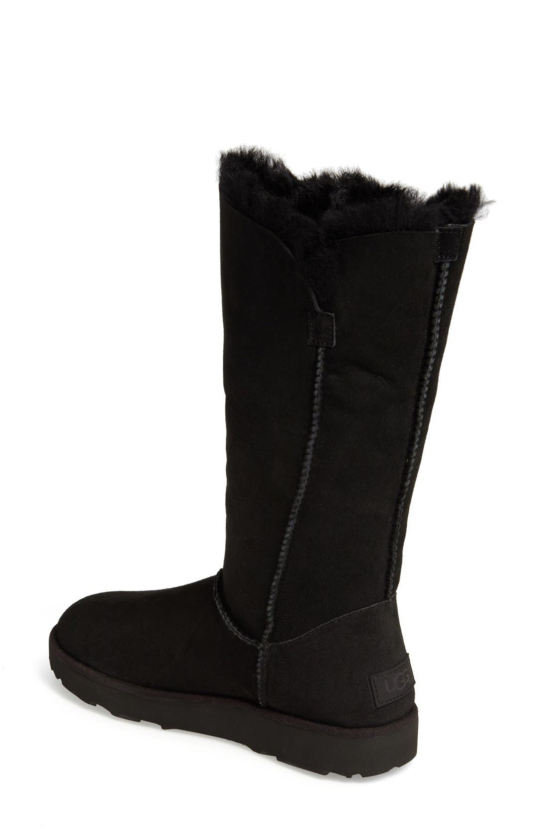 Classic Cuff Tall Boot,                             Alternate thumbnail 2, color,                             Black Suede