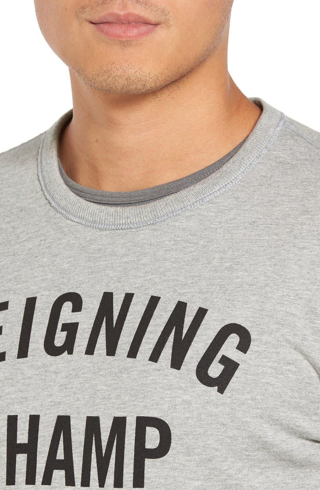 Alternate Image 4  - Reigning Champ Gym Logo Crewneck T-Shirt