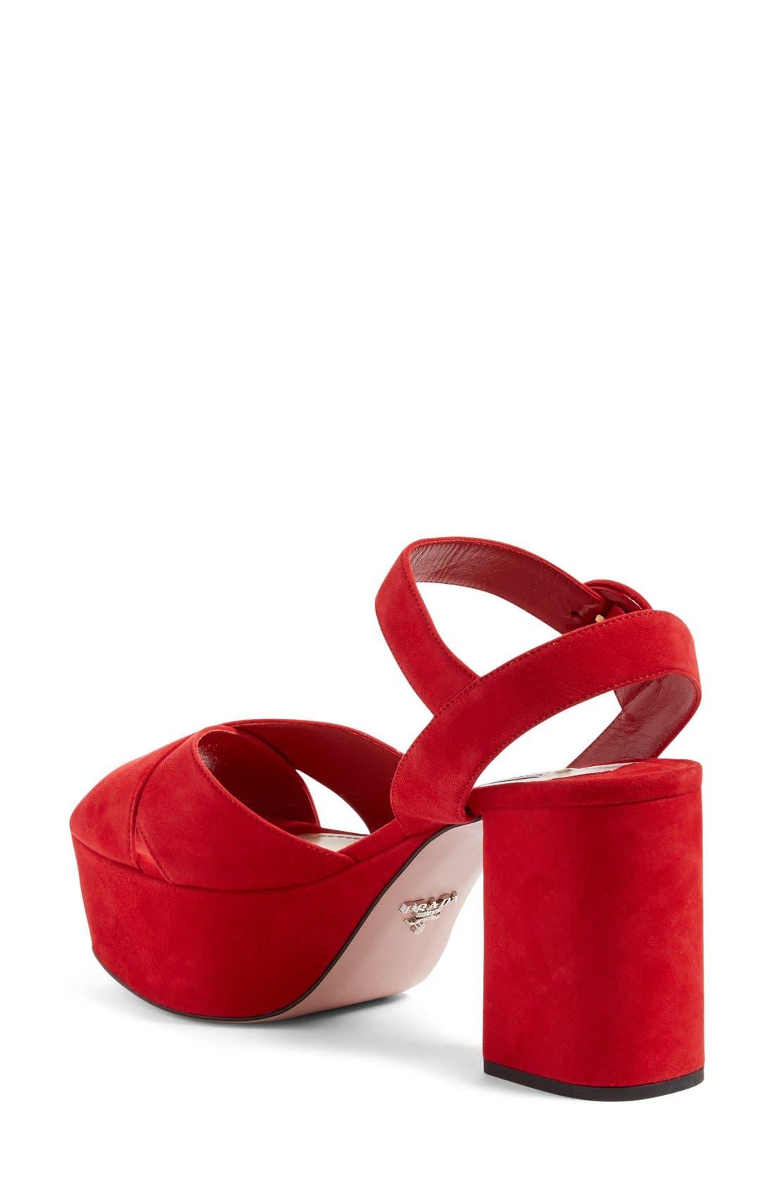 Alternate Image 2  - Prada Strappy Platform Sandal (Women)