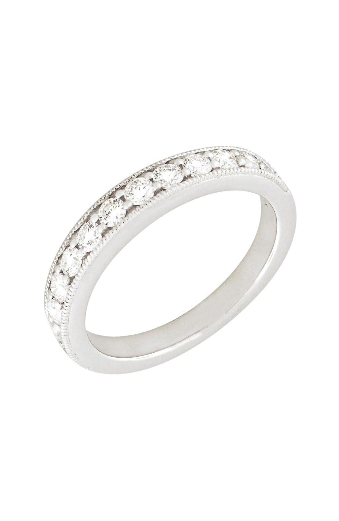 Stackable Diamond Band Ring,                         Main,                         color, White Gold