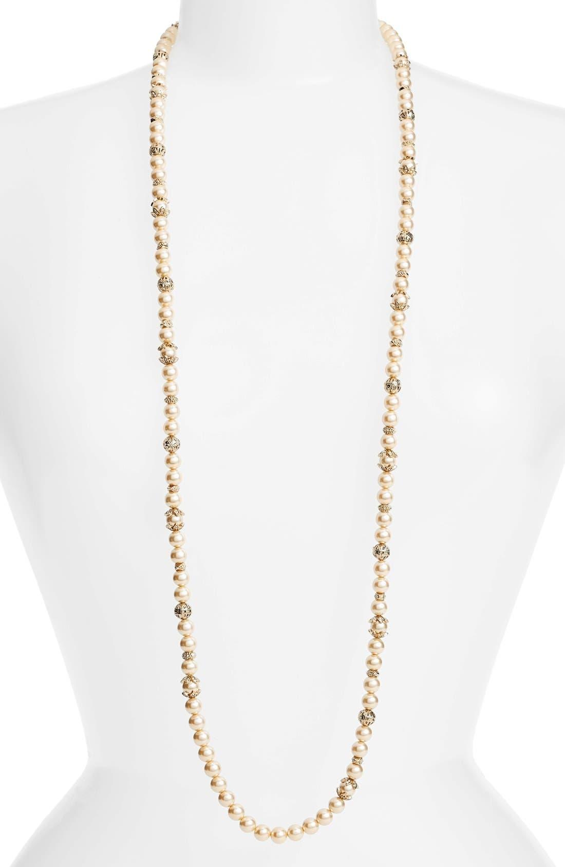 Marchesa Imitation Pearl Strand Necklace