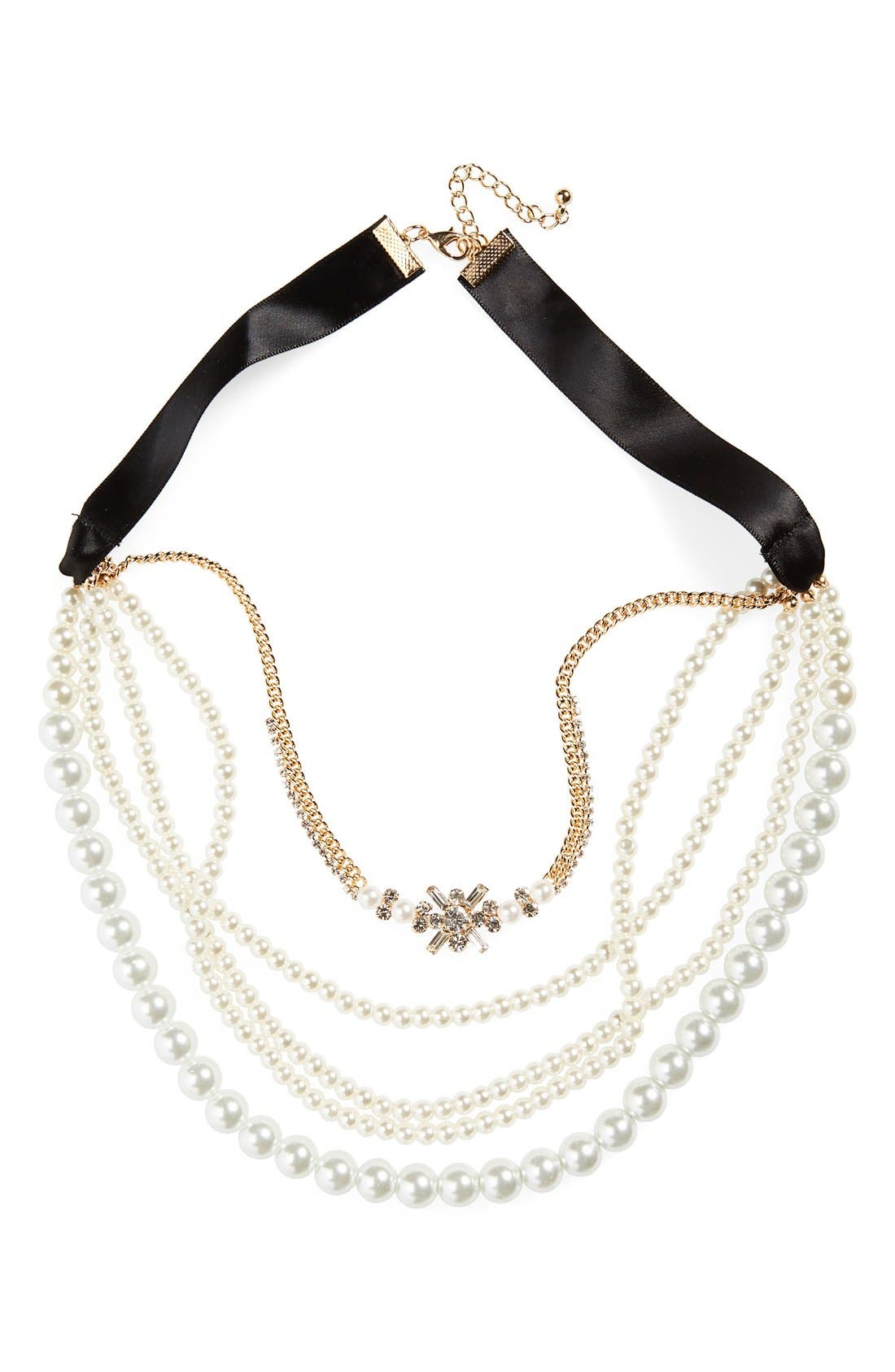 Main Image - Cara Multistrand Necklace