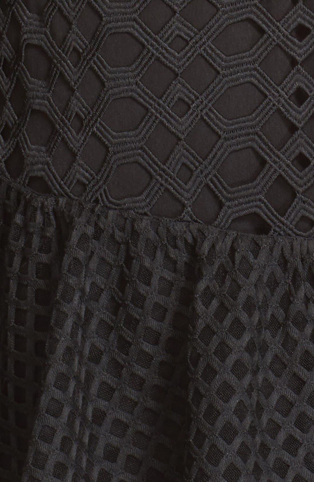 Alternate Image 5  - Self-Portrait Hall Lace Mesh Minidress