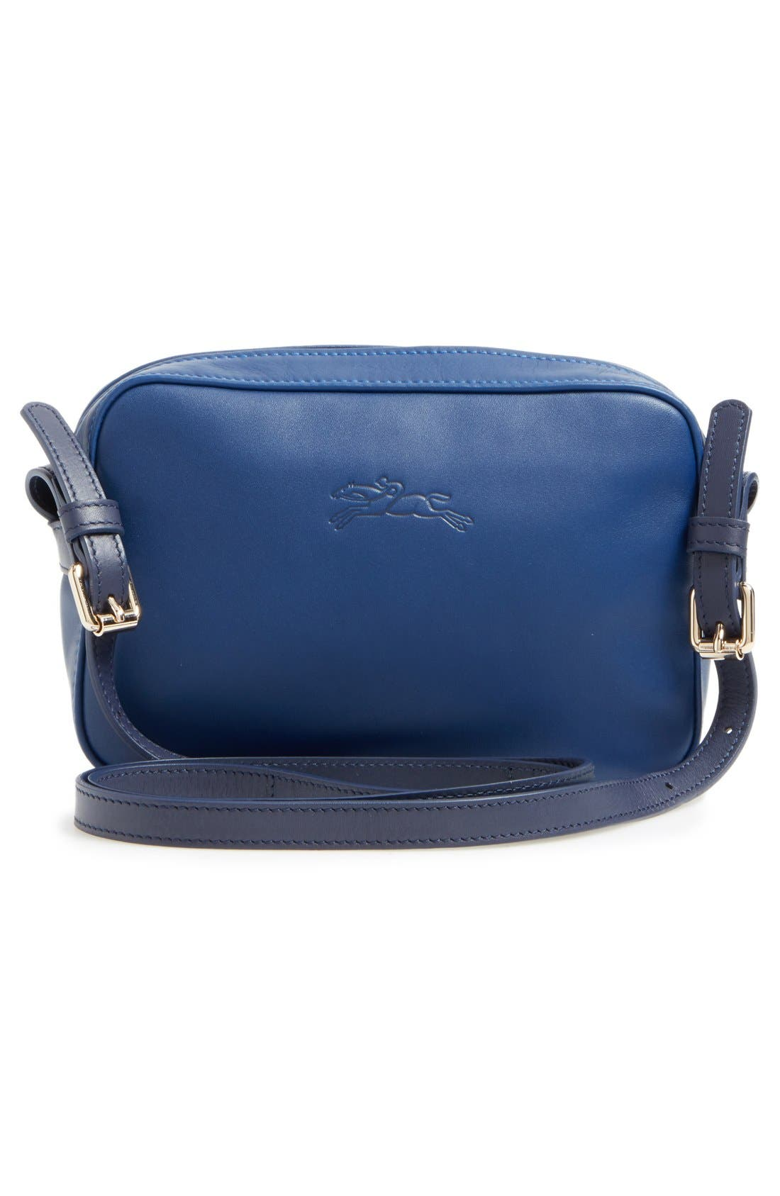'2.0' Two-Tone Leather Crossbody Bag,                             Alternate thumbnail 2, color,                             Blue/ Navy
