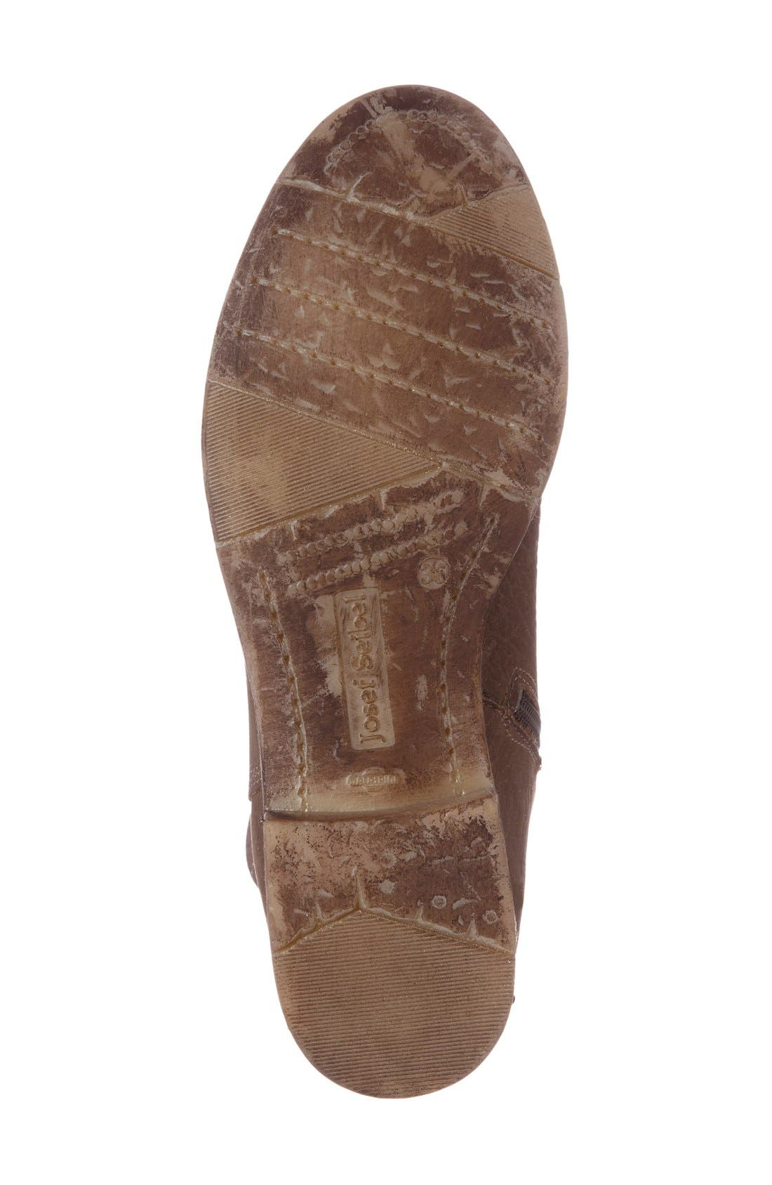 Sienna 01 Lace Back Bootie,                             Alternate thumbnail 4, color,                             Taupe Leather