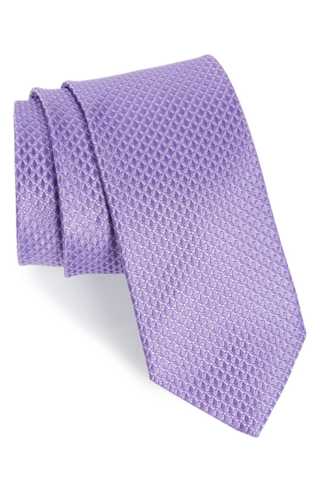'Grayson Mini' Silk Tie,                         Main,                         color, Lilac