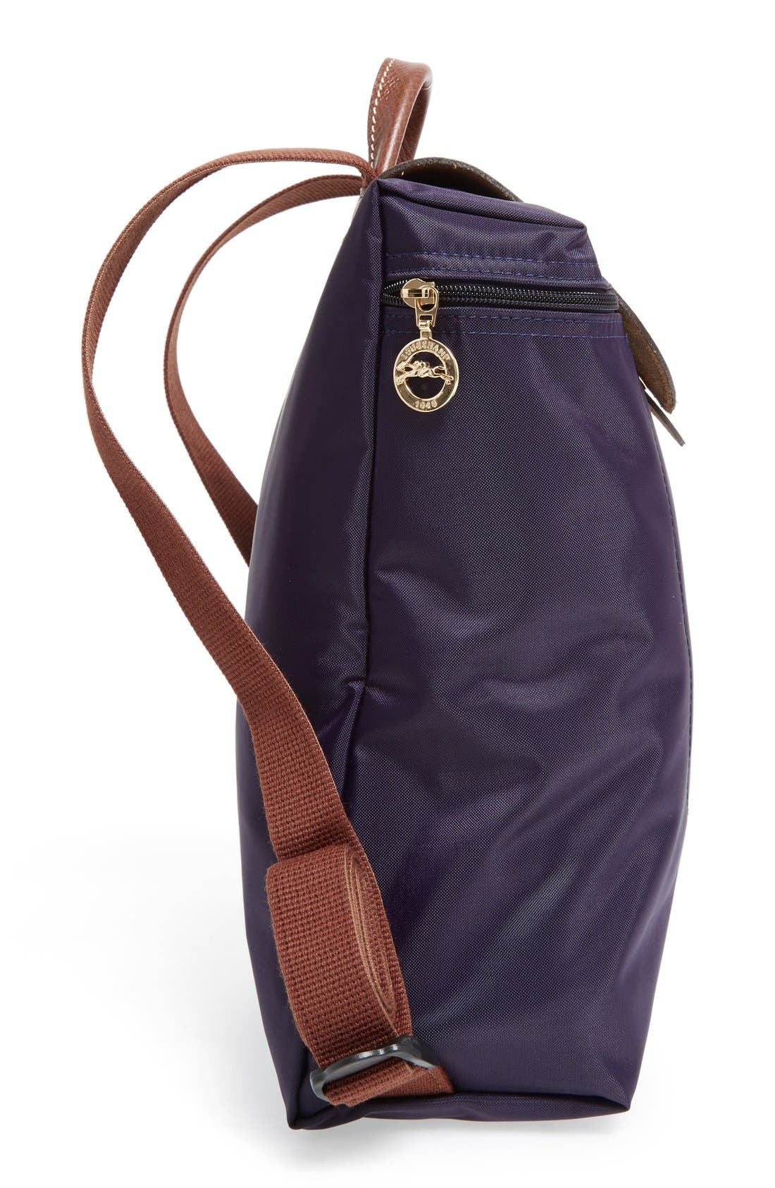 'Le Pliage' Backpack,                             Alternate thumbnail 5, color,                             Bilberry