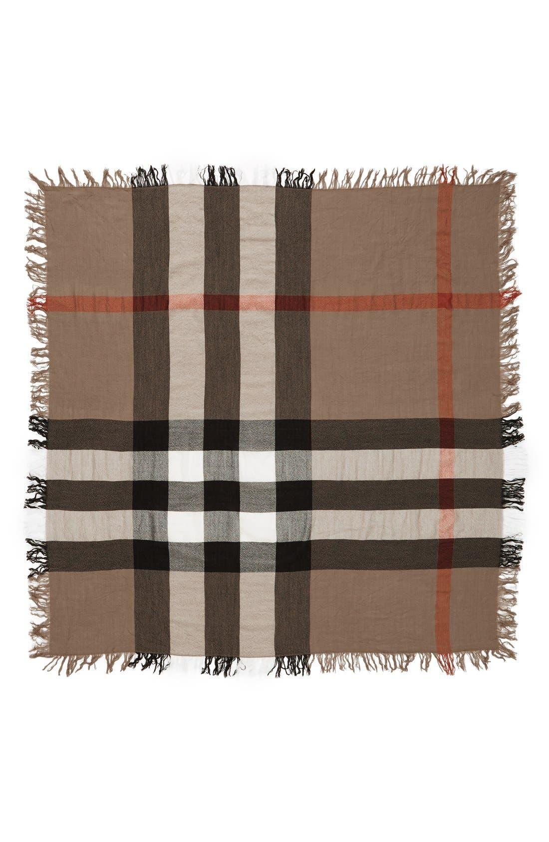 Check Merino Wool Scarf,                         Main,                         color, House Check