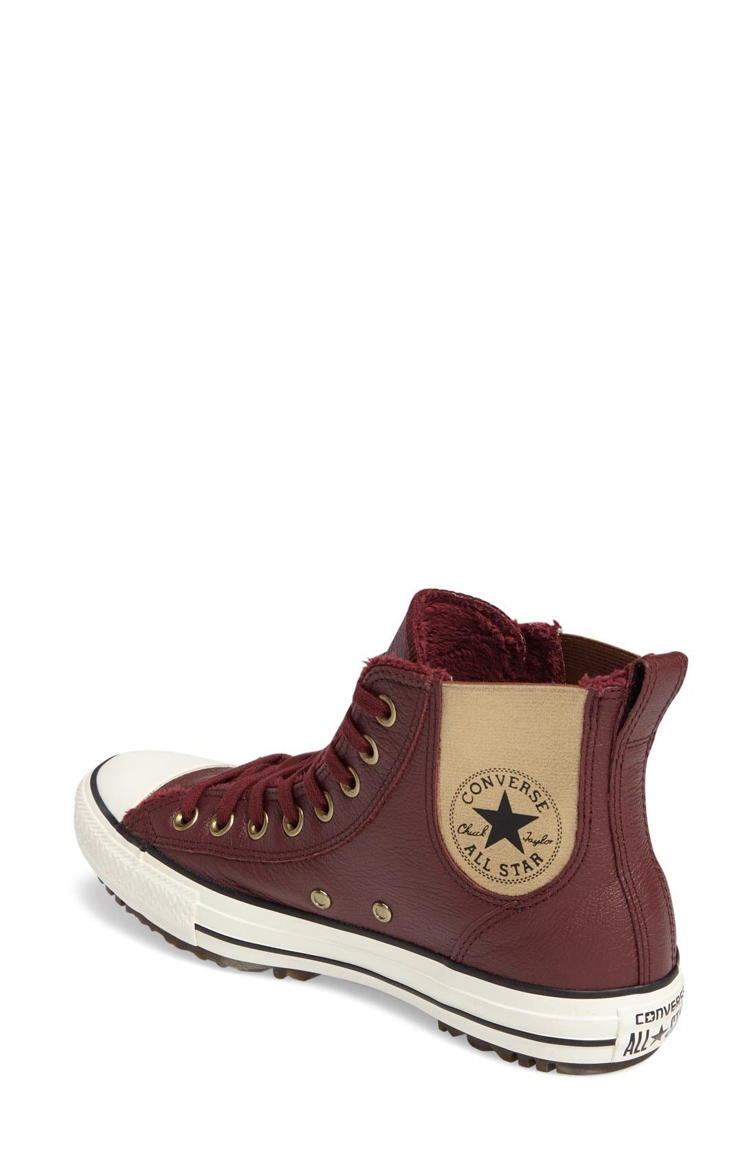 Alternate Image 2  - Converse Chuck Taylor® All Star® Faux Fur Chelsea Sneaker (Women)