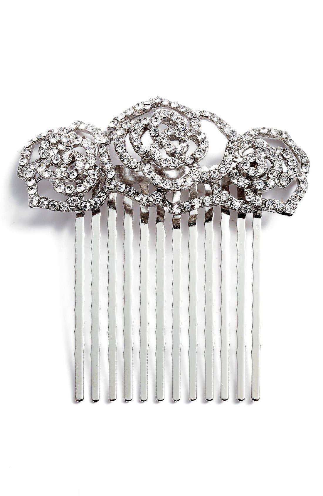 Main Image - Tasha Rosie Posie Crystal Comb