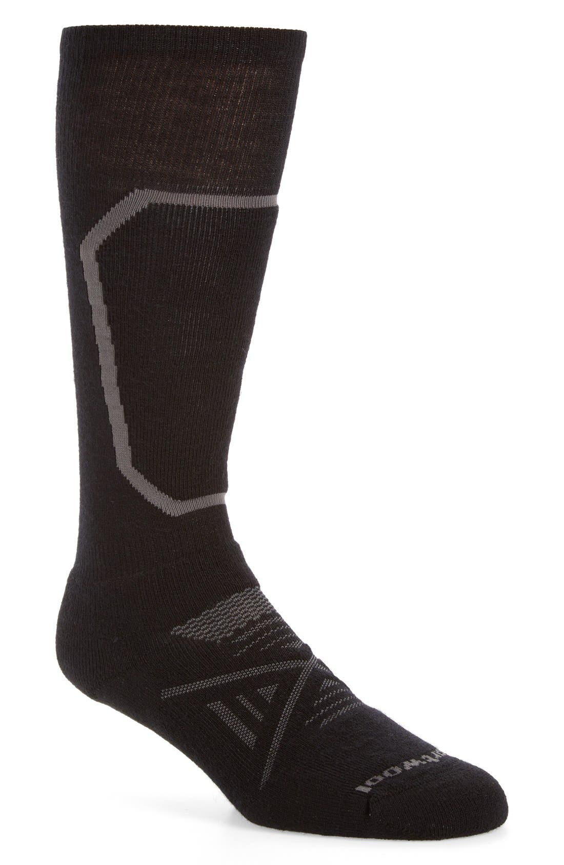 PhD<sup>®</sup> Ski Medium Over the Calf Socks,                         Main,                         color, Black