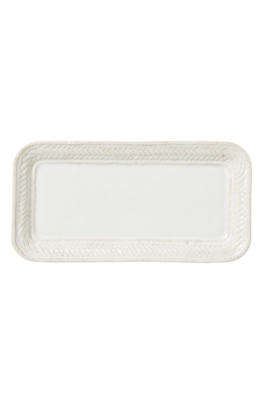 Le Panier Stoneware Hostess Tray,                         Main,                         color, White