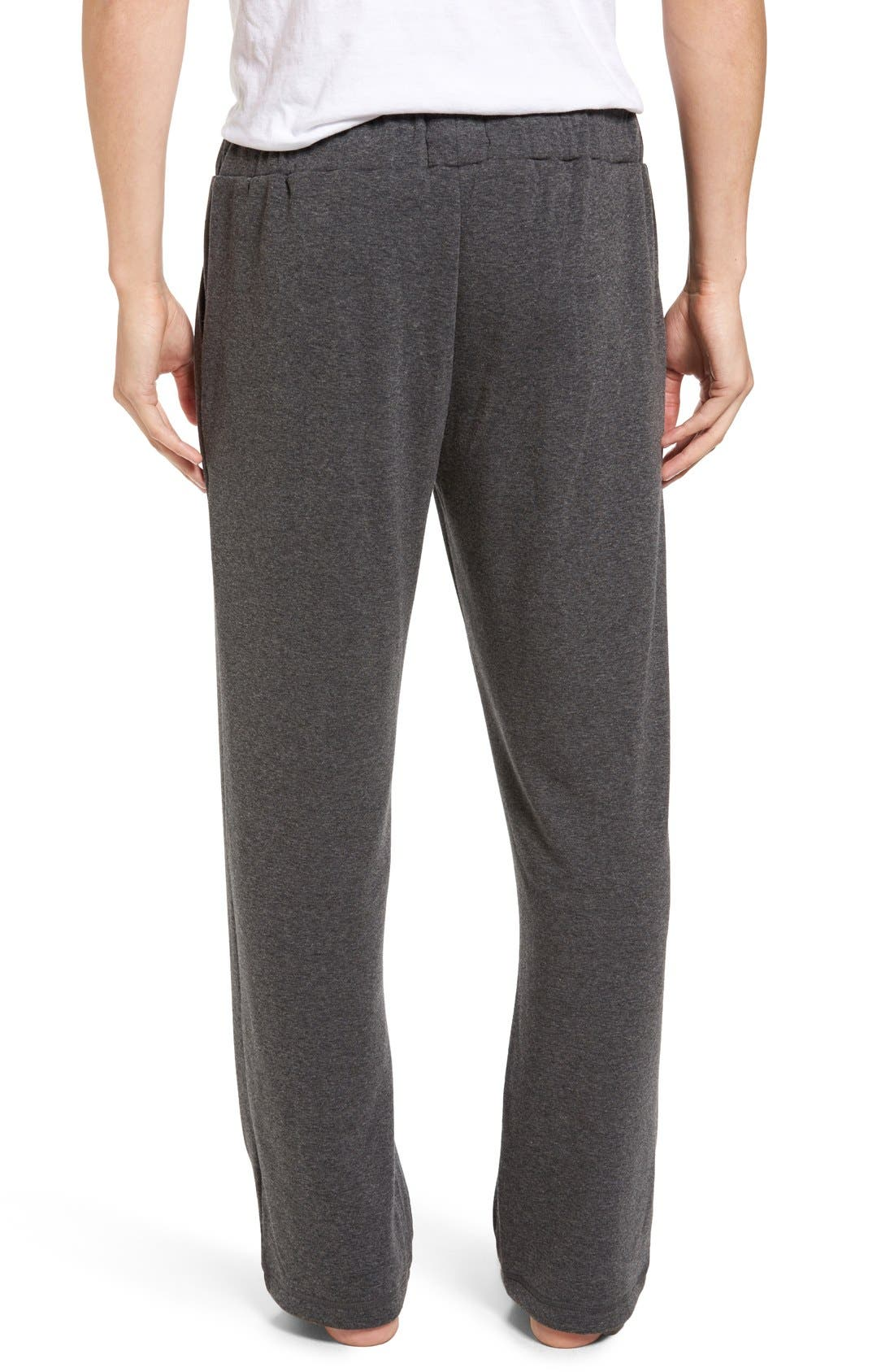 Fleece Lounge Pants,                             Alternate thumbnail 2, color,                             Grey Heather