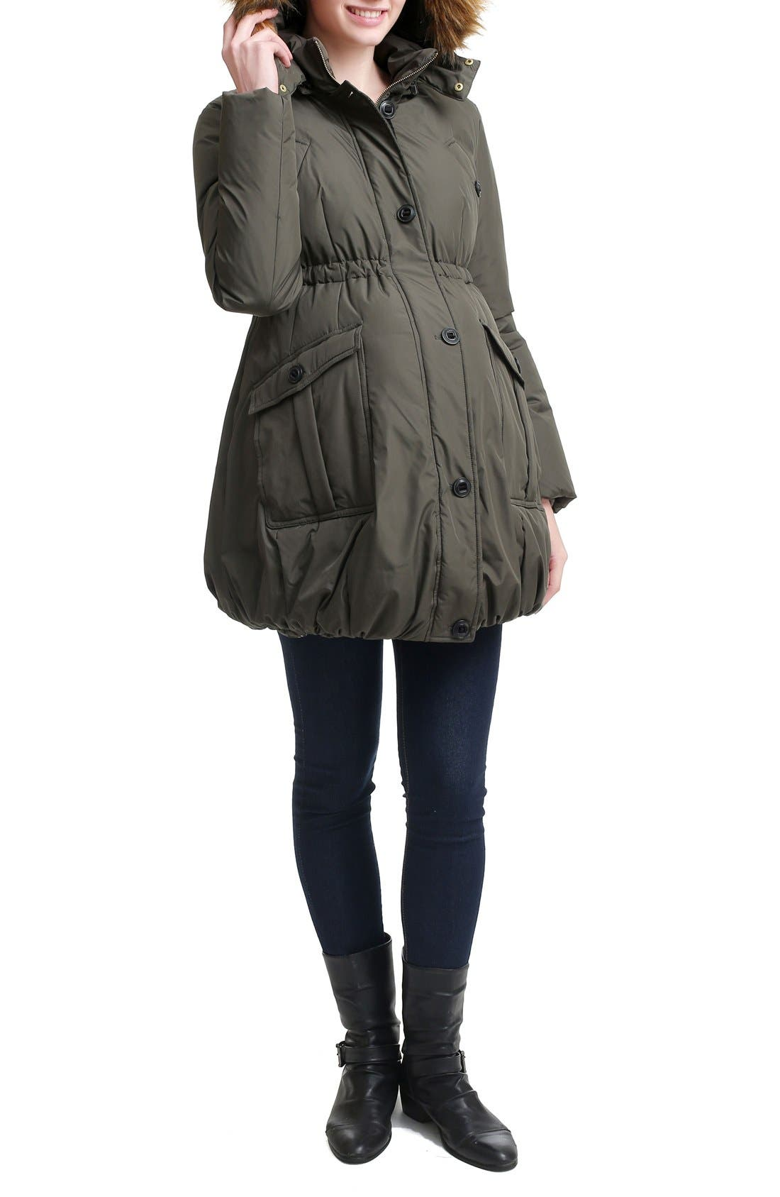 Dixie Down Maternity Parka,                             Alternate thumbnail 4, color,                             Loden