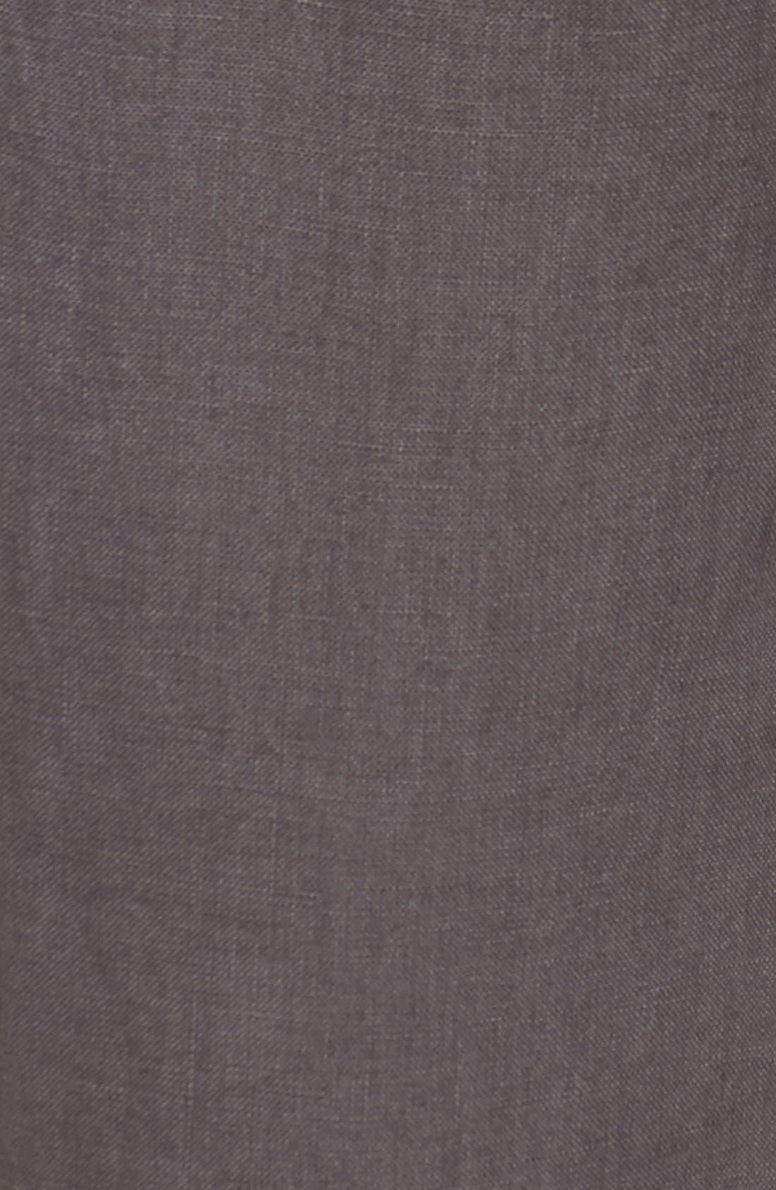 Crop Linen Joggers,                             Alternate thumbnail 4, color,                             Grey Ebony