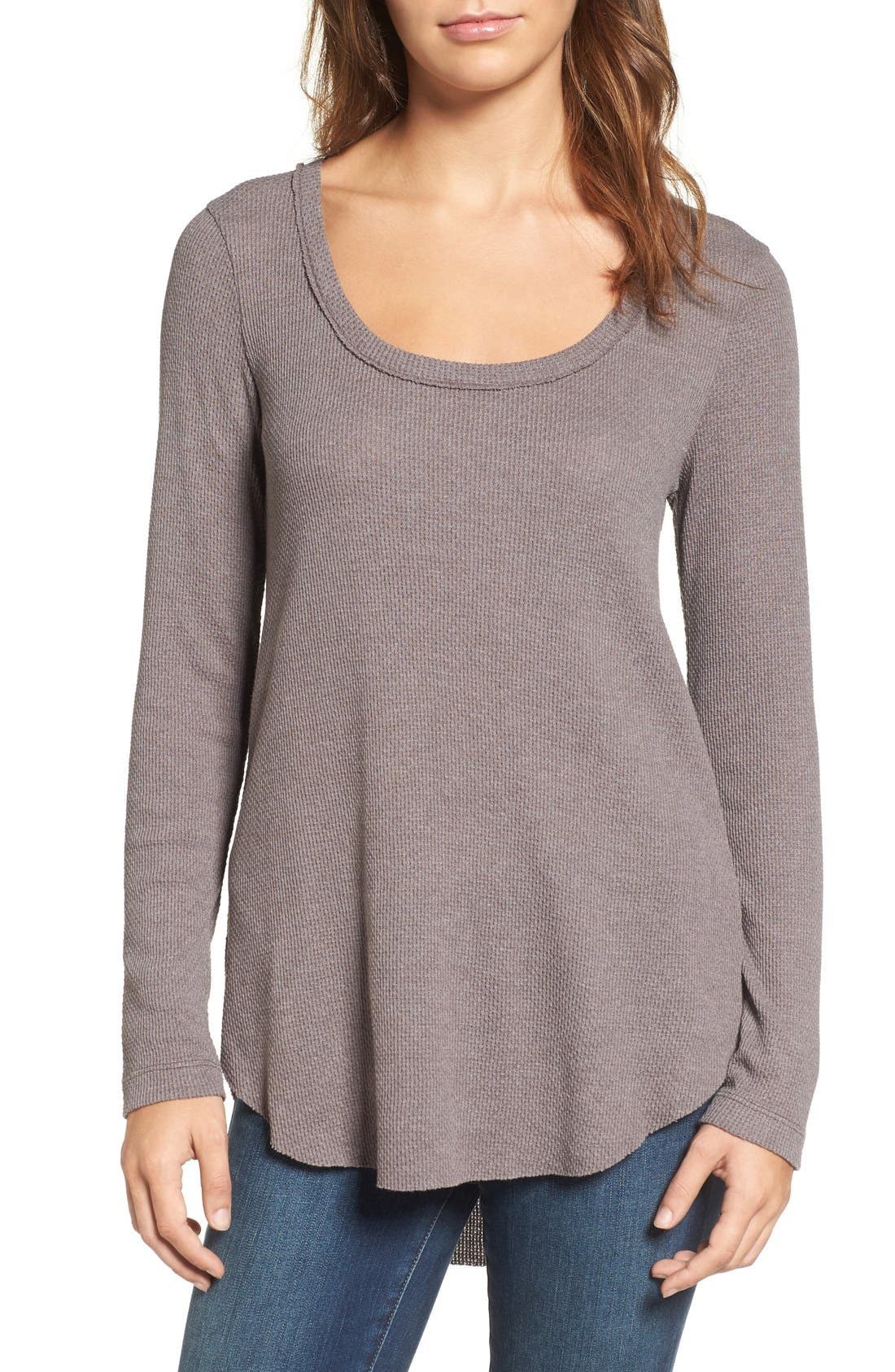 Main Image - Hinge Shirred Back Thermal Tee