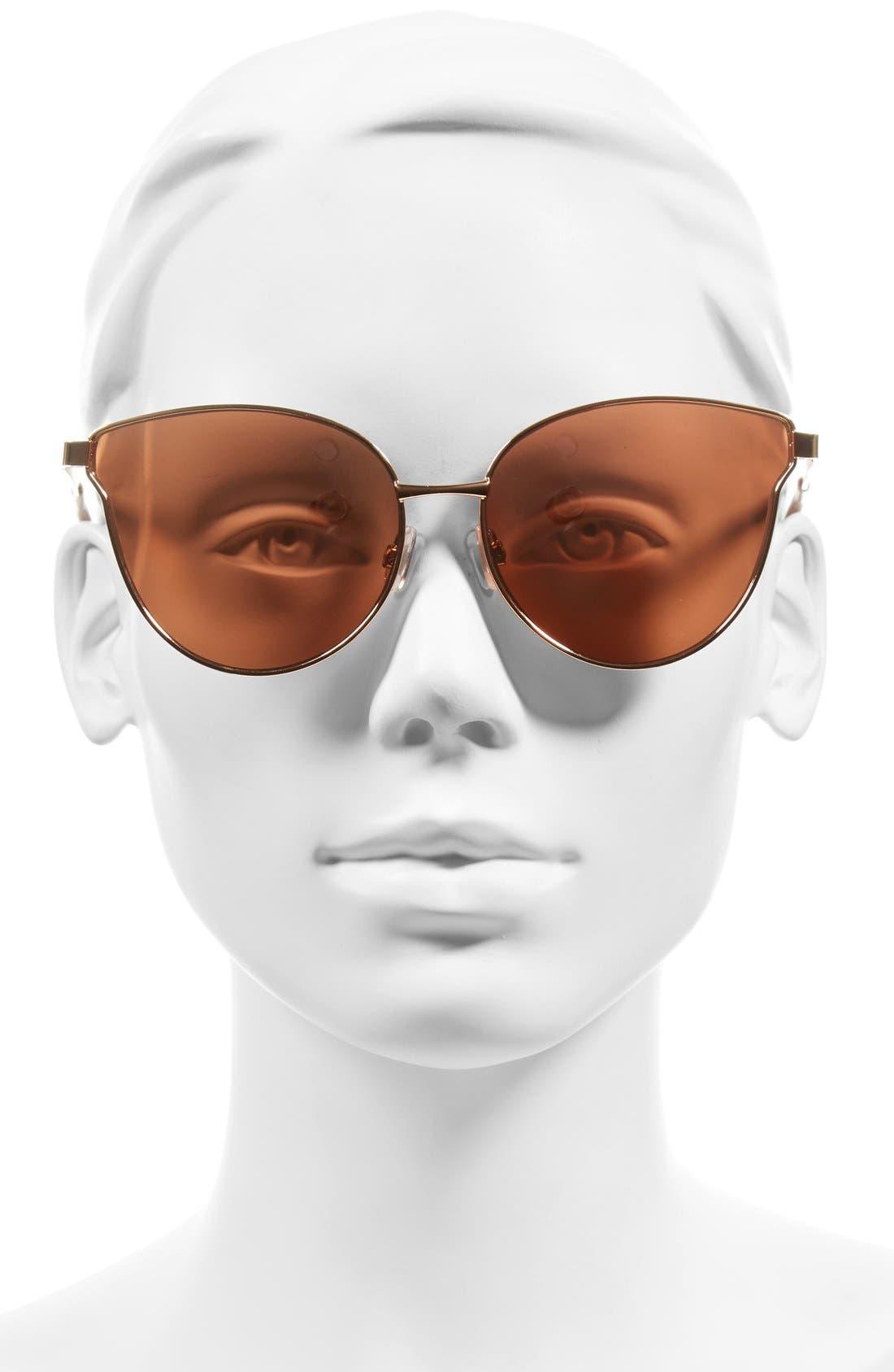 Alternate Image 2  - BP. 57mm Mirrored Metal Cat Eye Sunglasses