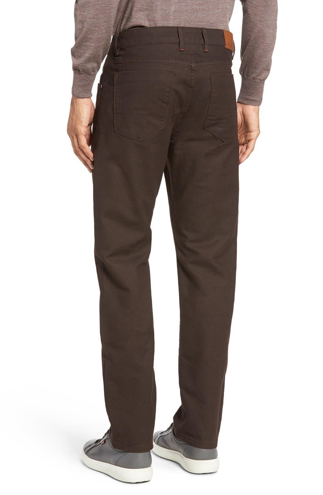 Slim Fit Five-Pocket Pants,                             Alternate thumbnail 2, color,                             Mocha