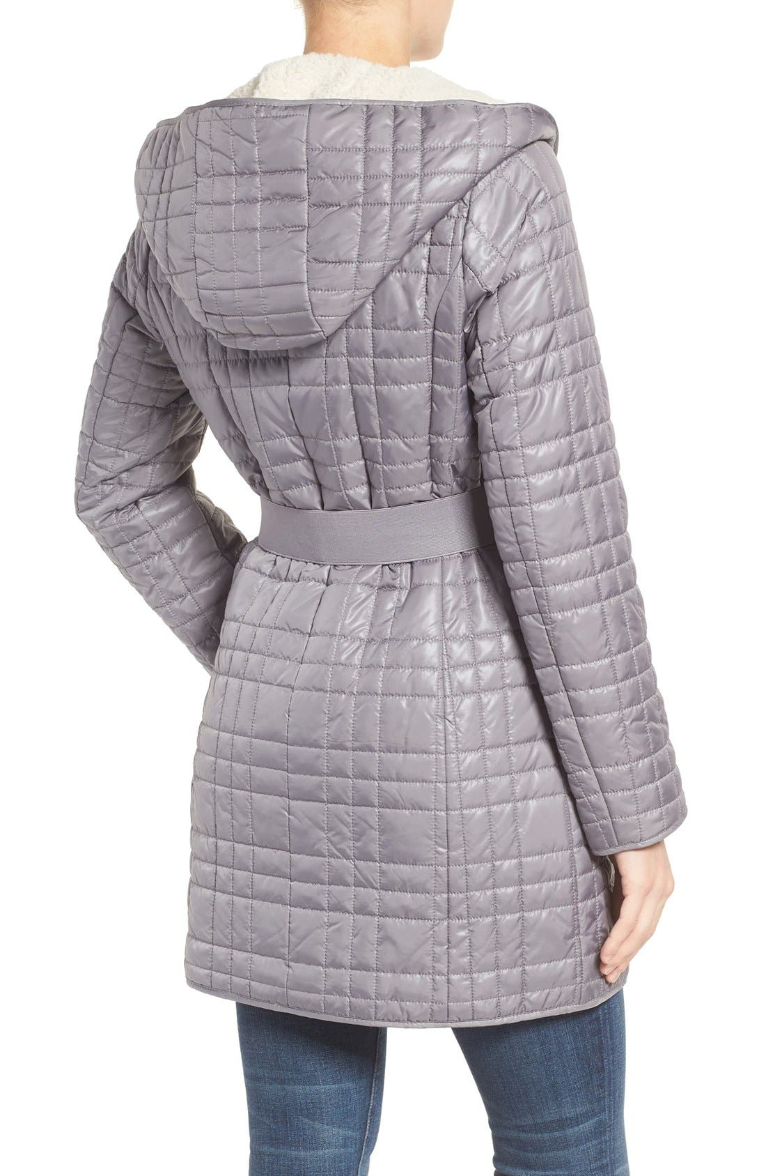Alternate Image 2  - Kenneth Cole New York Faux Shearling Lined Puffer Coat