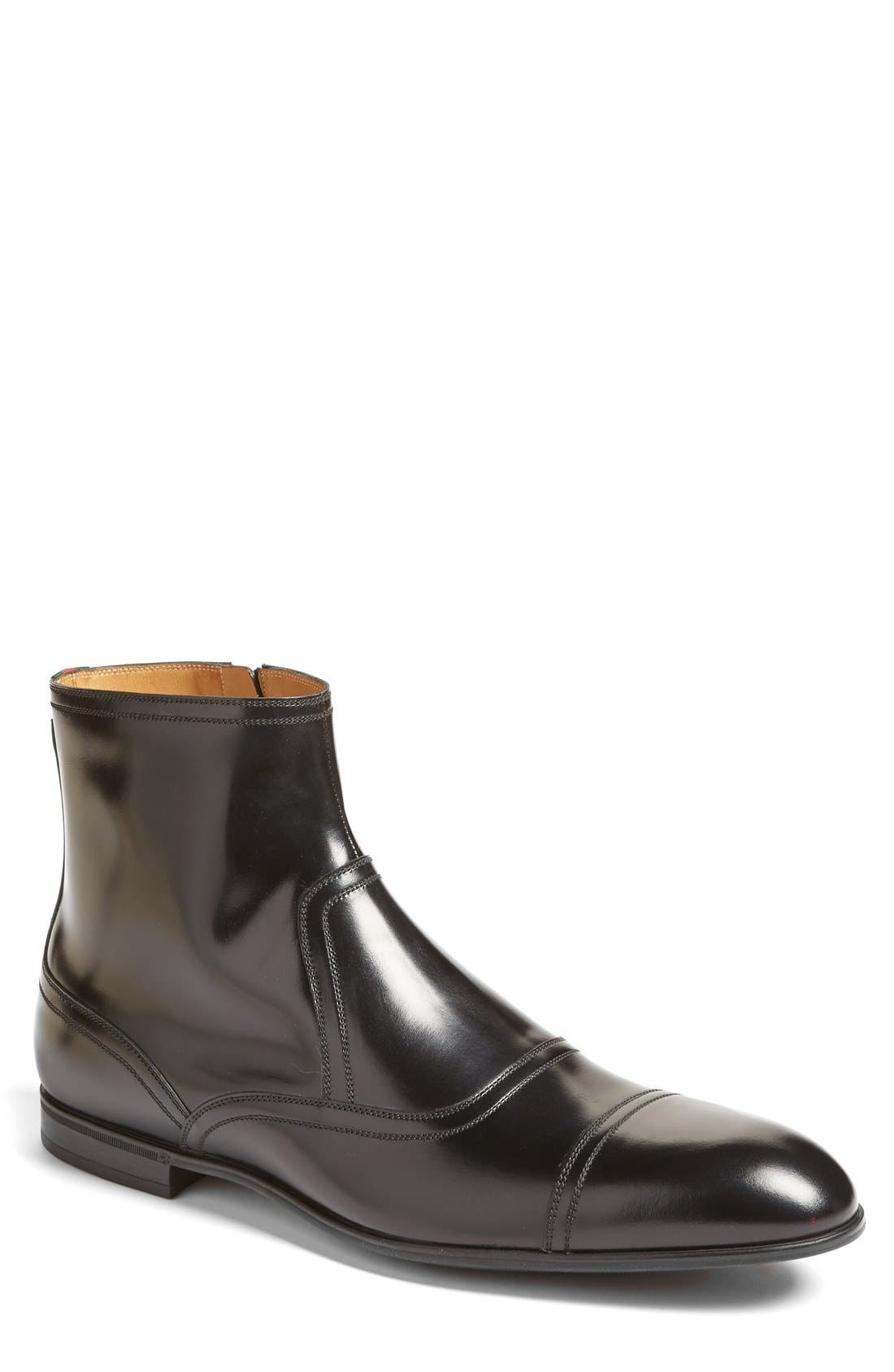 Ravello Zip Boot,                             Main thumbnail 1, color,                             Nero Leather
