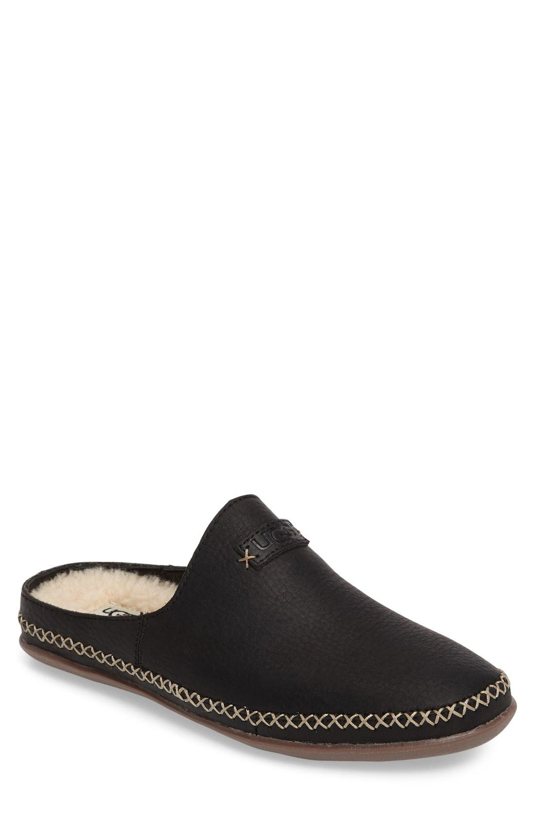 Tamara Slipper,                             Main thumbnail 1, color,                             Black Leather