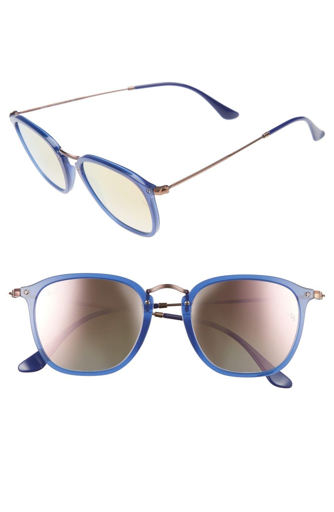 Icons Wayfarer 51mm Sunglasses,                             Main thumbnail 1, color,                             Transparent Blue
